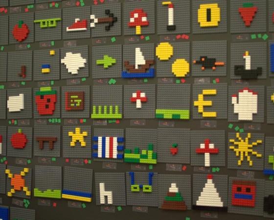 Pixel art di mattoncini
